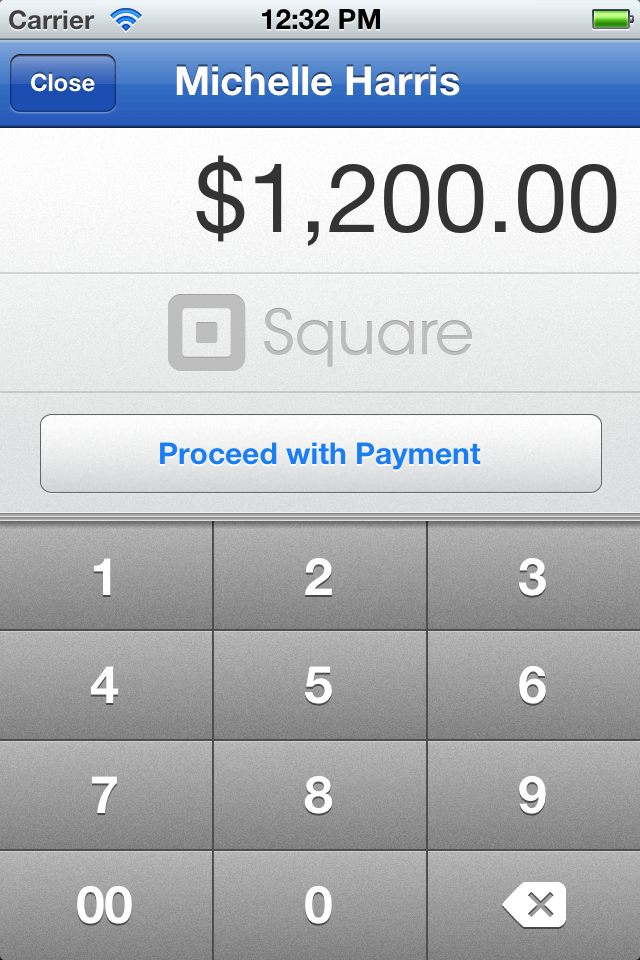 iPhone EHR Pay with Square