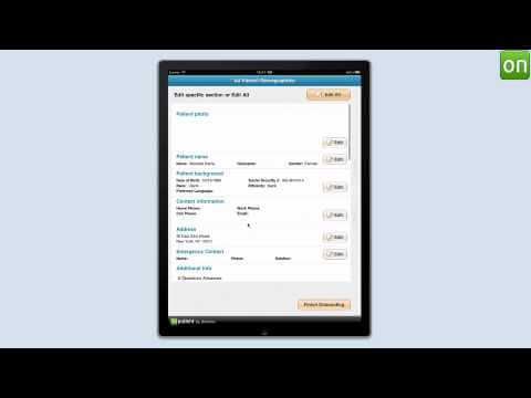 Patient check-in through iPad