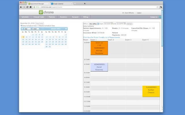Using Google Calendar with EHR.