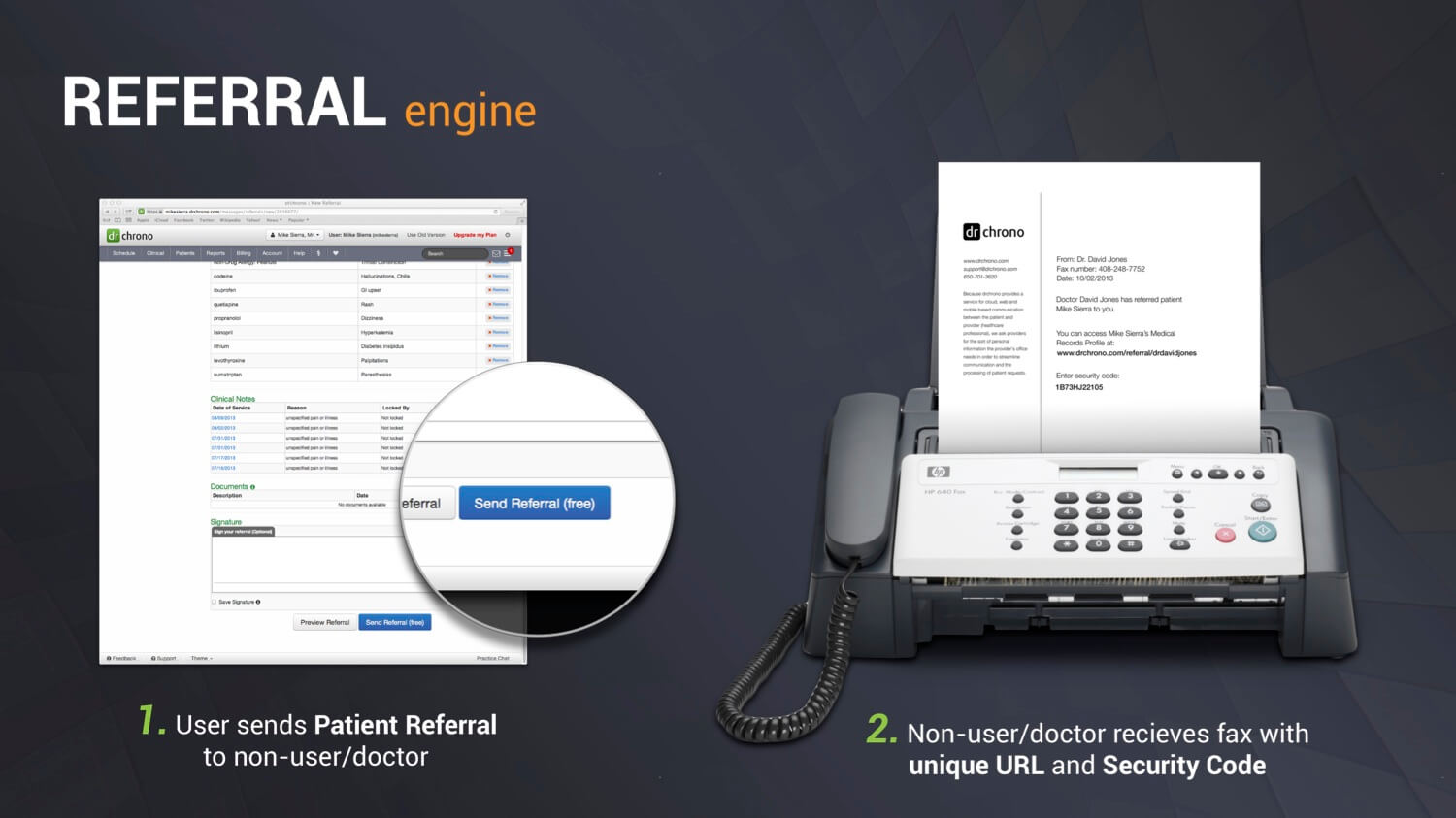 Step 1 to EHR Patient Referrals