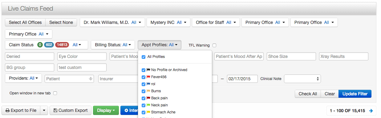 Appointment Filter